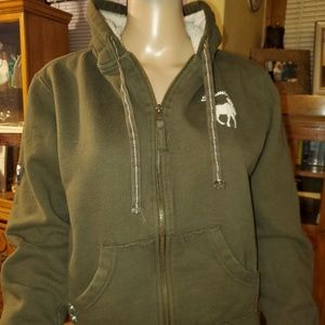 BAC brand, size Small, Olive green hoody